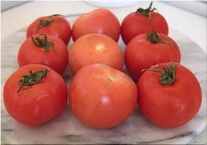 Образцы томатов (слева направо): из Нидерландов, Испании и Турции