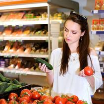 Тест свежих огурцов и помидоров