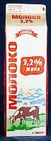 Молоко ТМ Торговый дом «Сметанин» 3,2% жира