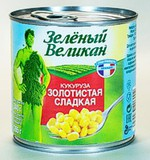 Кукуруза «Золотистая сладкая» стерилизованная «Зелёный великан»