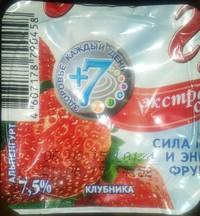 """Продукт йогуртный пастеризованный фруктовый 7.5% """"Альпенгурт. Экстра Сливочный"""" клубника"""