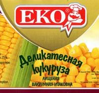 Этикетка кукурузы EKO