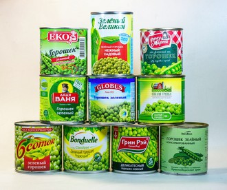 Тест: консервированный зеленый горошек